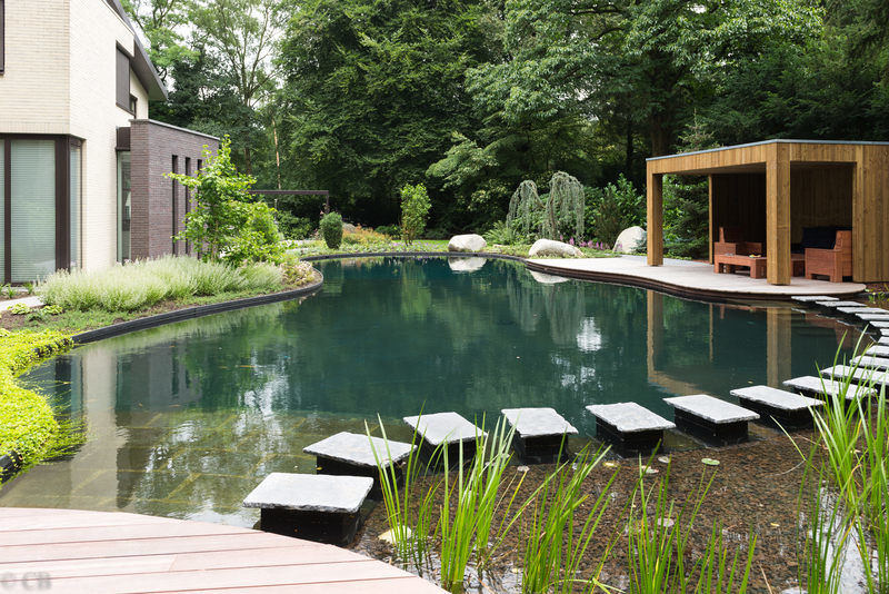 Aanleg van een zwemvijver in wageningen als pool masters for Wat kost een zwemvijver aanleggen